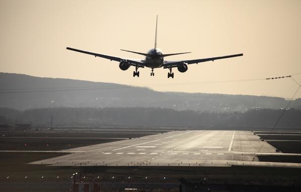 Картинка аэропорт, самолёт, кольцово
