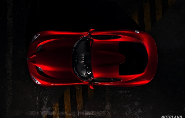 Картинка крыша, машина, авто, Dodge, Viper, auto, GTS, SRT, notbland, Webb Bland, Media Kit