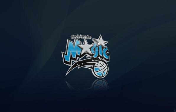 Картинка Синий, Звезда, Баскетбол, Магия, Фон, Логотип, Орландо, NBA, Orlando Magic