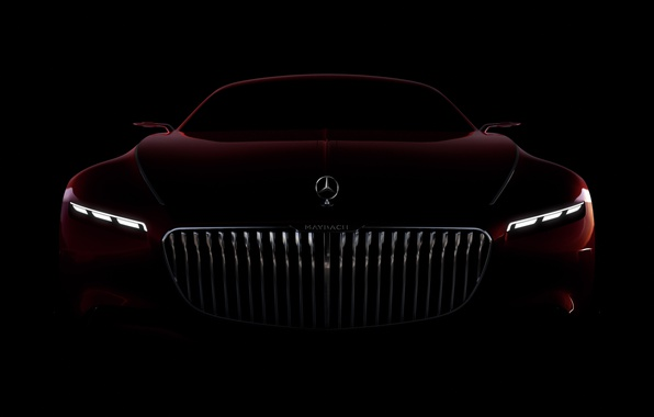 Картинка car, wallpaper, Mercedes, red, black, Maybach, beauty, comfort, luxury, automobile, vehicle, official wallpaper, desing, bold …