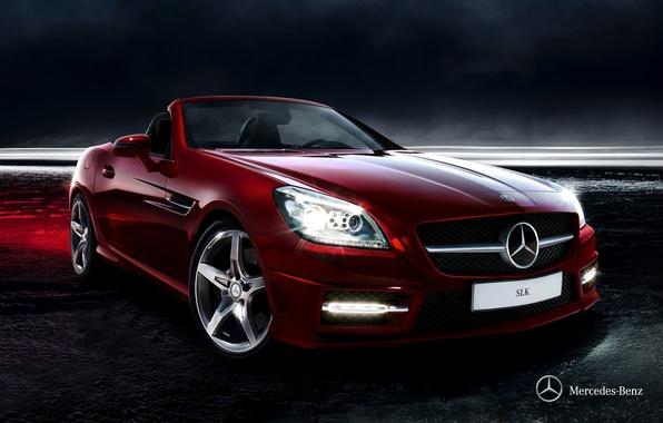 Картинка Mercedes-Benz, кабриолет, мерседес, 2011, SLK, R172