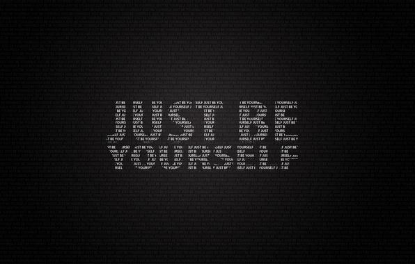 Картинка буквы, слова, фраза, будь собой, just be yourself