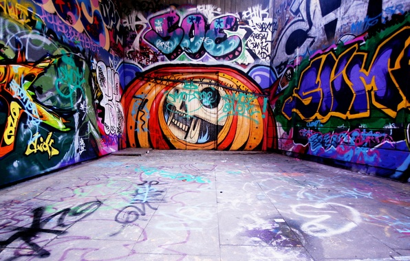 Картинка надписи, стена, граффити, арт, Стиль, теги