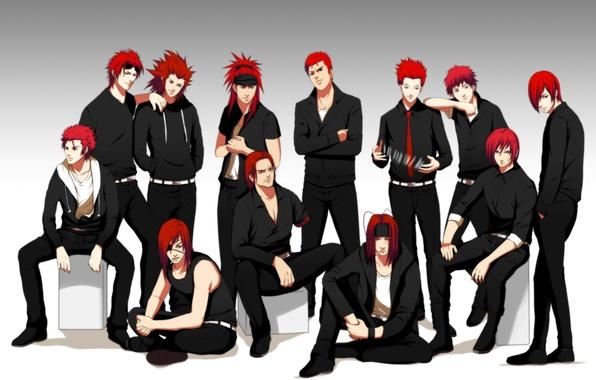Картинка карты, аниме, арт, наруто, повязка, парни, naruto, bleach, final fantasy, reno, badou nails, hunter x …