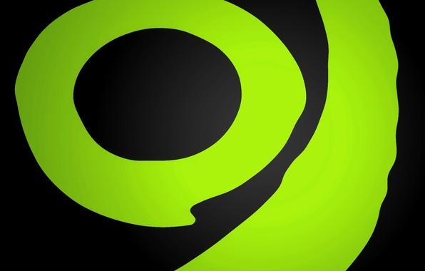 Картинка зеленый, круг, салатовый, xbox