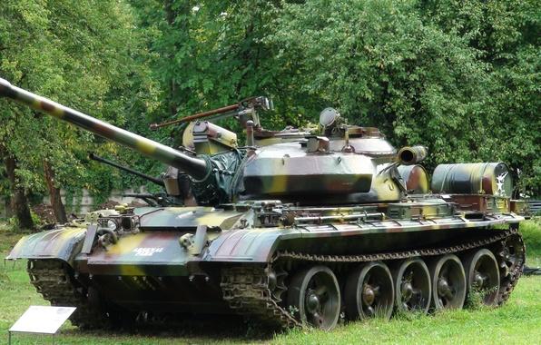 Картинка танк, СССР, военная техника, Т-55 М