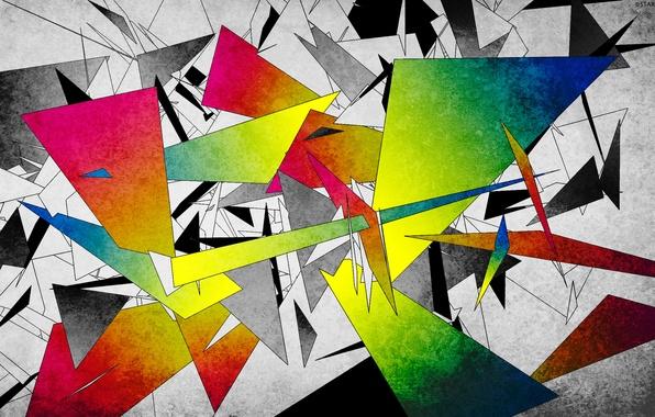 Абстракция осколки геометрия фигуры
