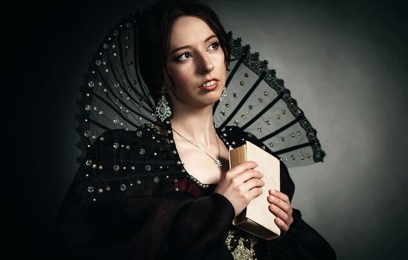 Картинка девушка, портрет, арт, renaissance