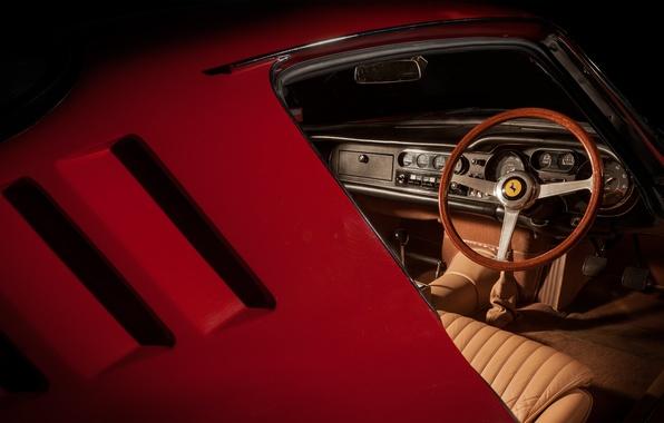 Картинка ferrari, vintage, classic, interior, 275 gtb