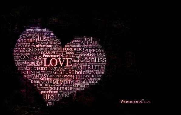 Картинка любовь, сердце, слово