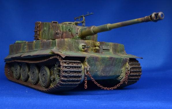 Картинка игрушка, танк, Tiger, немецкий, 1944, моделька, тяжёлый