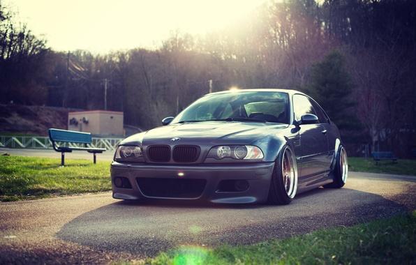 Картинка BMW, БМВ, E46, 3 series, Stance
