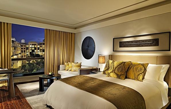 Картинка дизайн, город, стиль, комната, интерьер, отель