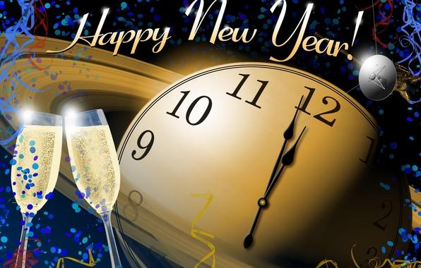 Картинка праздник, часы, новый год, циферблат, happy new year, holiday, watch, clock