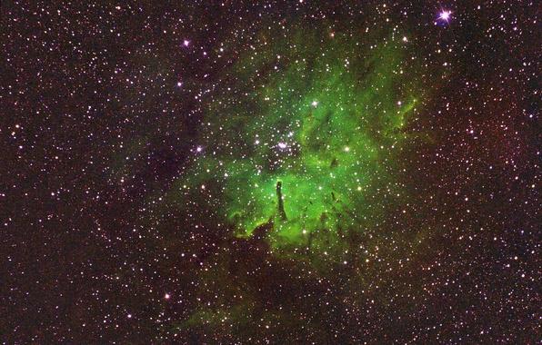 Фото обои космос, эмиссионная туманность, NGC 6820