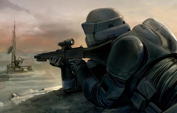 Картинка Star Wars, Art, Scout Trooper, Sniper
