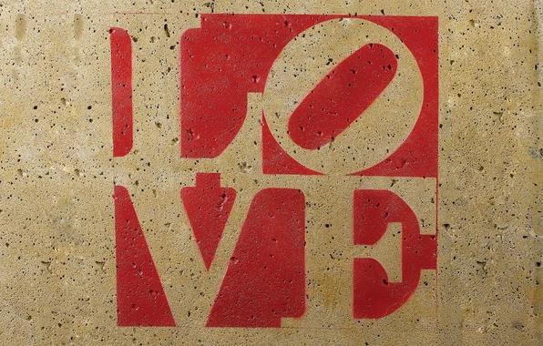 Картинка любовь, буквы, стена, надпись, текстура, love, буква, слово