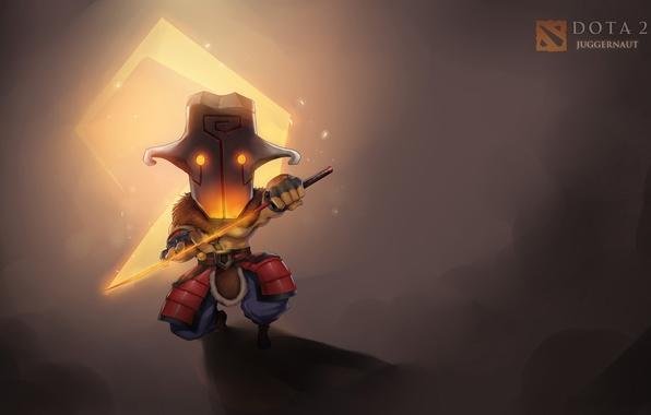 Картинка меч, маска, sword, chibi, mask, juggernaut, dota 2, virtualman209