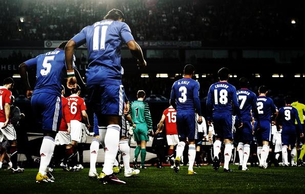 Картинка Champions League, Manchester United, Chelsea, Cole, Zhirkov, Ramires, Torres.Cech, Stamford Bridge, Ivanovic, Essien. Carrick, Drogba, …