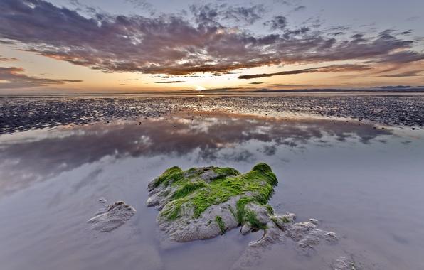 Картинка море, небо, пейзаж, закат, природа, красота