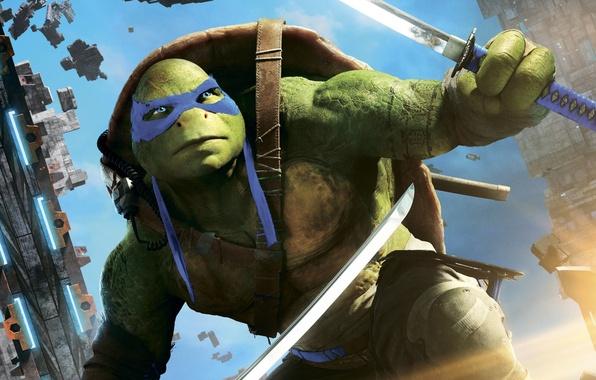 Картинка фэнтези, Leonardo, Teenage Mutant Ninja Turtles: Out of the Shadows, Черепашки-ниндзя 2