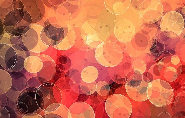 Картинка круги, желтый, красный, круг, овал, окружность