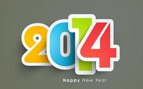 Картинка праздник, обои, цвет, цифры, заставка, 2014