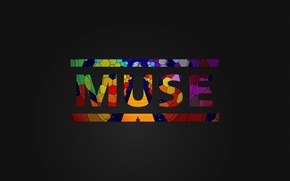 Картинка музыка, темный фон, надпись, обои, группа, muse