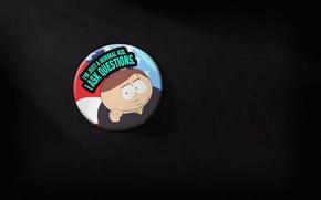 Обои минимализм, агитация, выборы, Картман, South Park