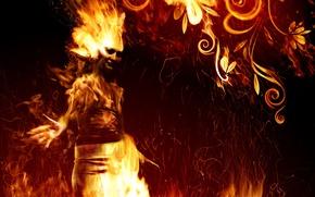 Картинка огонь, пламя, узор