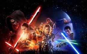 Обои star wars, штурмовик, звёздные войны, хан соло, Harrison Ford, R2-D2, финн, Finn, Princess Leia, Kylo ...