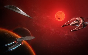 Обои Wars, Andromeda, Star, Enterprise-D, USS Enterprise NCC-1701-D, Trek
