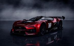 Картинка суперкар, Автомобиль, тёмный фон, Citroen Survolt
