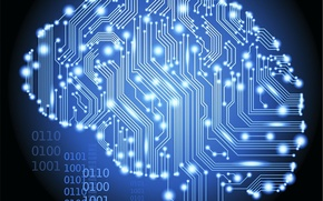 Картинка плата, мозг, Hi-Tech, Технологии