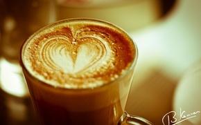 Картинка сердце, кофе, чашка