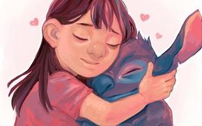 Картинка арт, девочка, монстрик, Lilo & Stitch, Лило и Стич, Zapekanka