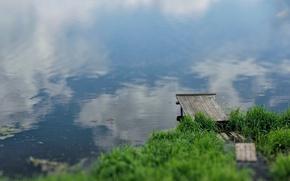 Картинка вода, река, причал