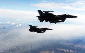 Картинка Falcons, Fighting, 2 F-16