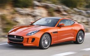 Картинка дорога, оранжевый, Jaguar