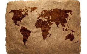 Картинка бумага, земля, мир, Карта