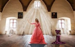 Картинка картины, девушка, платье, Renesance