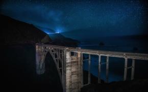 Картинка california, landscape, longexposure, centralcoast, bixbybridge