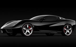 Картинка Corvette, Chevrolet, чёрная, Design, Z03, UgurSahin