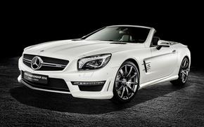 Картинка Roadster, Mercedes-Benz, родстер, черный фон, мерседес, AMG, R231, SL-Class
