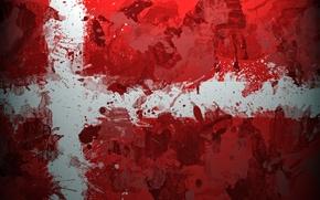 Картинка Дания, флаг, скандинавия