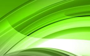 Картинка свет, зеленый, обои, дуга, линия, заставка, салатный