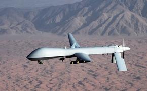 Картинка горы, Хищник, Predator, ВВС США, MQ-1, американский многоцелевой беспилотный летательный аппарат, General Atomics Aeronautical Systems