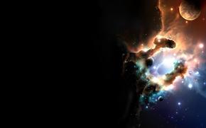Обои Звезды, Планета, Туманность