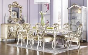 Картинка design, style, interior, lilac, dining room