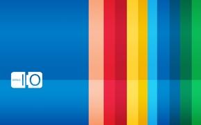 Картинка синий, полосы, фон, надпись, Google, яркость